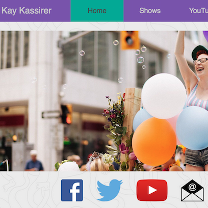 Kay's website screenshot